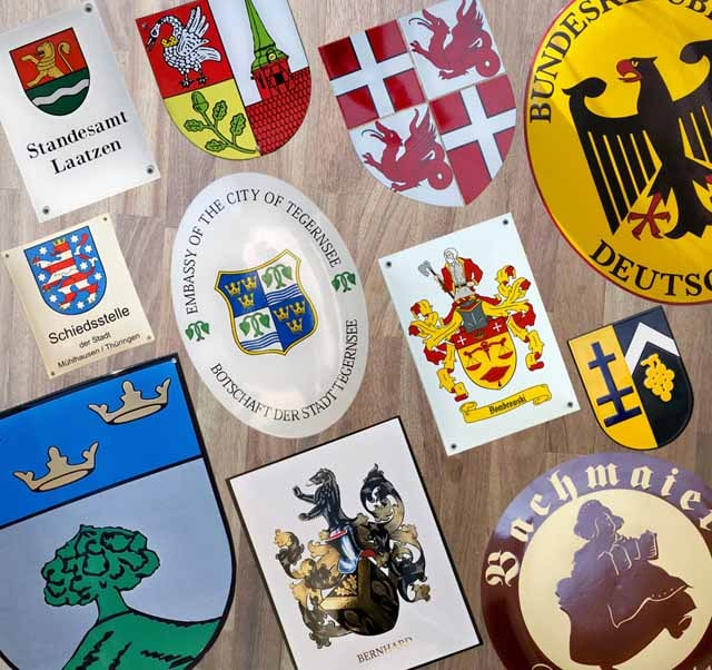 Emaille Wappenschild